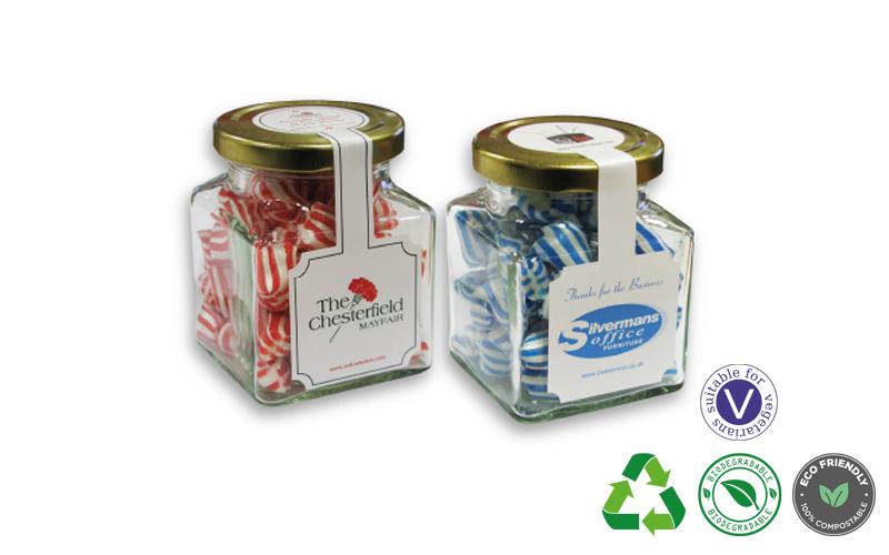 Colour Matched Humbugs – Large Square Jar
