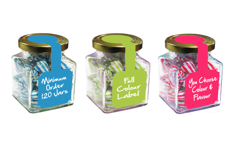 Colour Matched Humbugs – Large Square Jar